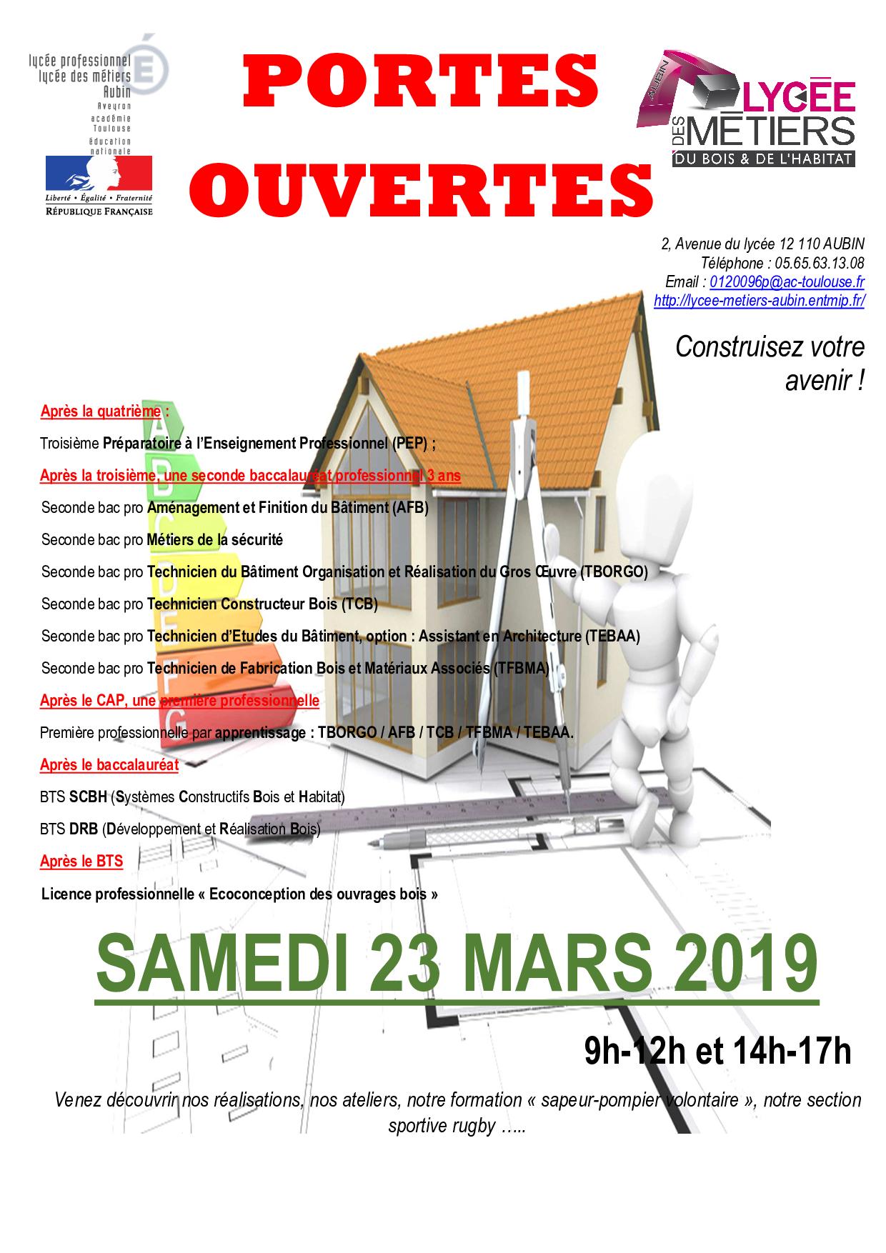 Portes Ouvertes 2019 Revue De Presse Lp Lycee Des Metiers Du